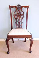 Antique Set of Six Antique Mahogany Chippendale Style Dining Chairs (2 of 9)