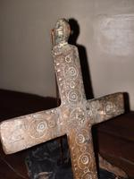 12th Century Medieval Bronze Crusader Knights Large Pectoral Cross (5 of 13)