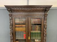 Imposing Carved Oak Bookcase (6 of 23)