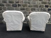 Pair of antique English armchairs for recovering (8 of 9)