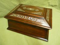 Large Inlaid Rosewood Jewellery / Table Box c.1835 (6 of 12)