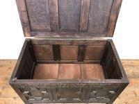Antique Oak Coffer Blanket Box (8 of 11)