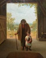 'Sunday Morning' An Enchanting Original 19thc Portrait Oil Painting' (10 of 14)