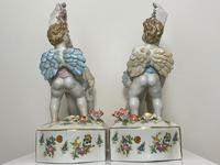 Pair of Small Dresden Victorian Style Porcelain Cherub Table Mirrors (24 of 60)