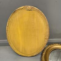 Pair of French Oval Gilt Mirrors (4 of 5)