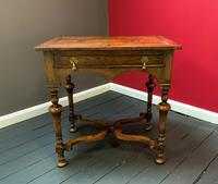 Outstanding William & Mary Style Leather & Stud Bound Country Oak Lowboy Table (5 of 18)