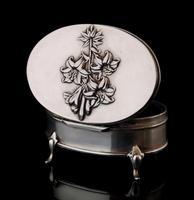 Antique Silver Jewellery Casket, Art Nouveau