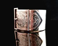 Victorian Silver Cuff Bangle, Wide, Buckle (6 of 11)
