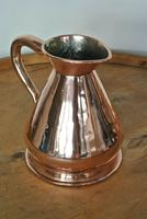 Antique Copper Pint Haystack Measure Castellated Seam Later GR Duty Mark (4 of 11)