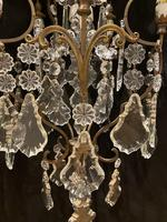 One Light Italian Antique Cage Chandelier (13 of 13)