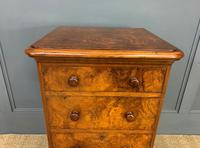 Pair of Burr Walnut Bedside Chest by Heal and Son (8 of 16)