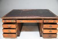 Large Victorian Mahogany Partners Desk (9 of 13)