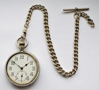 1930s Swiss Lever Pocket Watch & Chain (3 of 6)