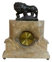 Art Deco Clock with Borghese Lion (4 of 5)