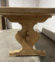 Bleached Oak French Trestle End Farmhouse Dining Table (15 of 28)