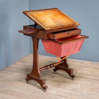 Victorian Leather Top Work Table (2 of 12)