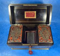 Victorian French Tortoiseshell Twin Canister Tea Caddy (12 of 17)