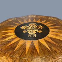 Rosewood Marquetry Sunburst Inlaid Side Table (6 of 7)