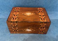 Victorian Walnut & Tunbridge Ware Jewellery Box (6 of 11)