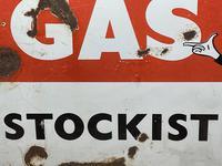 Vintage Original English 1950's Enamel Advertising Sign Calor Gas Stockist (15 of 22)