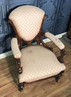 Victorian Burr Walnut & Inlaid Salon Suite (35 of 38)