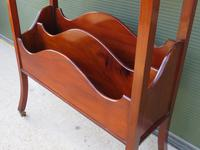 Edwardian Mahogany Magazine Rack with Book Stand (4 of 7)