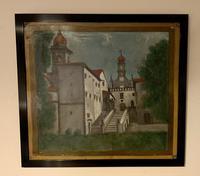 Spanish Moorish Churchyard / Monastery Scene on Tin Plate (9 of 9)