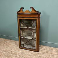 Victorian Mahogany Antique Glazed Corner Display Cabinet (6 of 6)