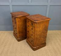 Pair of Burr Walnut Bedside Chest by Heal and Son (16 of 16)