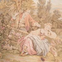 Antique Tapestry Panel, French, Framed, Needlepoint, Decorative, Edwardian, 1910 (6 of 10)