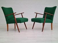 Danish Design, Completely Renovated Armchairs 1970s, Kvadrat Wool, Teak (2 of 15)