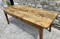 Large French Sycamore & Elm Farmhouse Table (2 of 21)