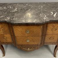 French 19th Century Marble Top Commode (7 of 11)