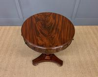 William IV Flame Mahogany Drum Table (7 of 9)