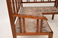 Antique Arts & Crafts Solid Walnut  Corner Settee from Liberty of London (10 of 12)