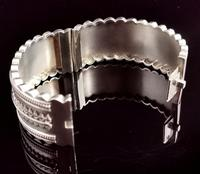 Antique Victorian Silver Bangle, Aesthetic Era, Boxed (9 of 17)