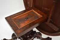 Antique  Victorian Burr Walnut Loo Table (5 of 13)