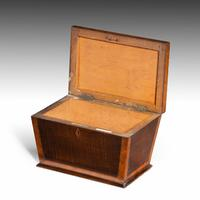 Shaped Late George III Period Mahogany Tea Caddy (2 of 4)