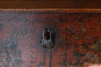 19th century painted pine coffer with floral artwork to the front (18 of 19)