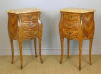 Good Pair Of French Inlaid Bedside Cabinets With Ormolu Mounts (3 of 7)