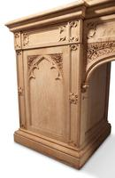 Carved Oak Pedestal Sideboard (10 of 13)