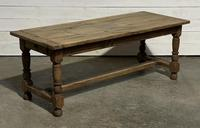 Rustic French Oak 19th Century Farmhouse Kitchen Table (24 of 31)