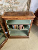Pair of Burr Walnut Open Bookcases (3 of 8)