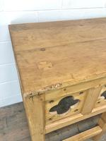 Victorian Pine Church Altar Table in Gothic Design (12 of 14)