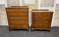 Queen Anne Burr Walnut Chest of 5 Drawers (12 of 12)