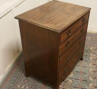 Distressed Georgian Flame Mahogany Chest of Drawers (4 of 5)