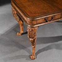 Unusual Mid 20th Century Spanish Cast Iron & Leather Clad Writing Table (3 of 5)