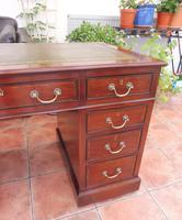 Howard & Sons Double Pedestal Desk c.1890 (10 of 13)
