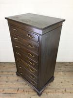 Early 20th Century Antique Oak Narrow Chest of Drawers (7 of 11)
