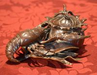 Fine Bronze Lobster Inkwell (10 of 10)